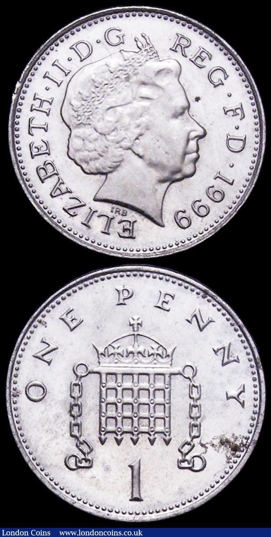 Mint Error - Mis-Strike Decimal One Penny 1999 missing the