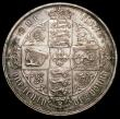 London Coins : A160 : Lot 1861 : Mint Error - Mis-Strike Florin Gothic Reverse Brockage, the top cross overlaps the border beads so d...