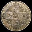 London Coins : A160 : Lot 2044 : Crown 1847 Gothic Plain Edge Proof ESC 291, 27.97 grammes, UNC with minor cabinet friction, and with...