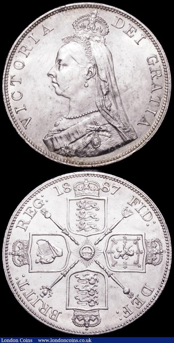 Double Florins (2) 1887 Roman 1 ESC 394, Bull 2695 UNC