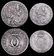 London Coins : A160 : Lot 2298 : Maundy Set 1680 ESC  2376 comprising Fourpence ESC 1852 NVF, Threepence ESC 1972, Twopence 80 over 7...