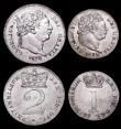 London Coins : A160 : Lot 2307 : Maundy Set 1820 ESC 2424, Bull 2242 A/UNC to UNC and lustrous