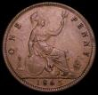 London Coins : A160 : Lot 2409 : Penny 1865 5 over 3 Freeman 51 dies 6+G, Gouby BP1865Bb, the downstroke of the underlying 3 shows at...