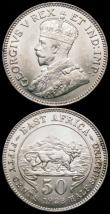 London Coins : A160 : Lot 3175 : East Africa Fifty Cents - Half Shilling (2) 1923 KM#20 UNC and lustrous, 1924 KM#20 A/UNC and lightl...