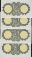 London Coins : A160 : Lot 398 : Ireland Republic Central Bank 1 Pound (4), dated 30th September 1976, a consecutively numbered run s...