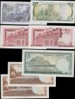 London Coins : A160 : Lot 423 : Jersey (5) and Gibraltar (2), Jersey 10 Shillings issued 1963 a pair of consecutively numbered notes...