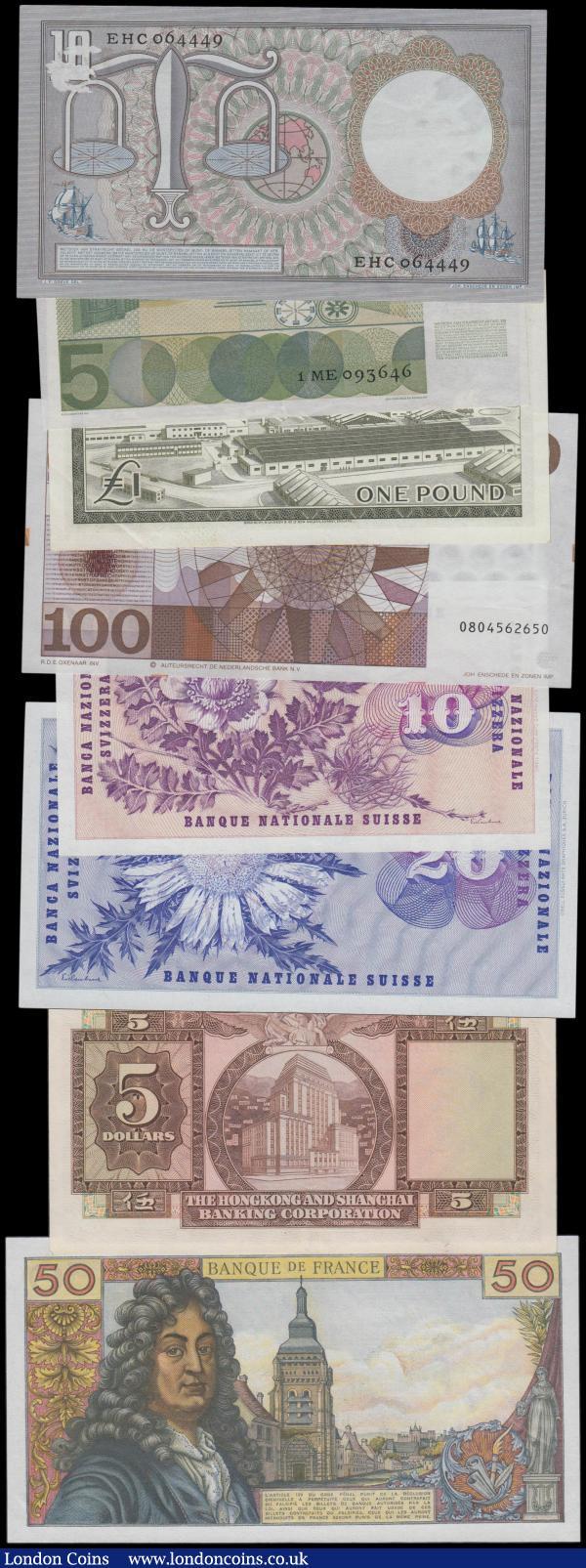 Banknotes of All Nations Antilles 1970 1 Gulden P20 UNC Prefix D