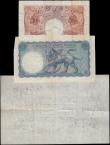 London Coins : A160 : Lot 73 : Bank of England (3), 5 Pounds Beale white note B270 dated 29th September 1949 series O55 055150, (Pi...