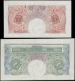 London Coins : A160 : Lot 76 : One Pound & 10 Shillings O'Brien B274, B272 issued 1955, both Replacement notes, series S84...
