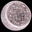 London Coins : A161 : Lot 1050 : Mint Error - Mis-Strike Shilling 1817 George III struck around 15% off-centre with 4mm blank flan, w...