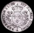 London Coins : A161 : Lot 1152 : France 12 Sols 1780A KM#568.1 the last two digits overstruck possibly over 78, NEF with light hairli...