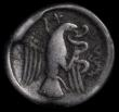 London Coins : A161 : Lot 1395 : Ancient Greece Euboia, Chalkis Ar.Drachm (369-336BC) Obv: Head of Hera, right, hair rolled, Reverse:...