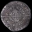 London Coins : A161 : Lot 1424 : Groat Edward III Treaty Period London Mint S.1616, double annulet stops on obverse, Saltire stops on...
