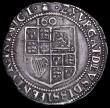 London Coins : A161 : Lot 1461 : Sixpences James I First Coinage, First Bust S.2647 mintmark Thistle NVF with some surface marks, str...