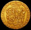 London Coins : A161 : Lot 1581 : Guinea 1785 S.3728 Good Fine/Fine with  a heavier contact mark below the King's chin