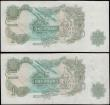 London Coins : A161 : Lot 165 : ERROR (2), One Pound Page heavy printers ink smudges to one and lighter ink smudges to the other, se...