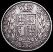 London Coins : A161 : Lot 1732 : Halfcrown 1848 8 over 6 ESC 681A, Bull 2728, VG, Rare