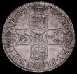 London Coins : A161 : Lot 1850 : Shilling 1708 Third Bust Plain in angles ESC 1147, Bull 1399 GVF or slightly better, the reverse wit...