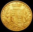 London Coins : A161 : Lot 1968 : Sovereign 1853 WW Raised, S.3852C About Fine
