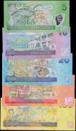 London Coins : A161 : Lot 278 : Fiji (5), 5 Dollars, 10 Dollars, 20 Dollars, 50 Dollars & 100 Dollars issued 2013, a lovely colo...