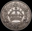 London Coins : A161 : Lot 2817 : Crown 1928 ESC 368, Bull 3633 NVF with a few small spots visible under magnification