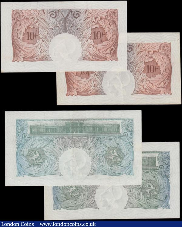 Ten Shillings & One Pound (4), Mahon 10 Shillings B210 first series Z80 117311, (Pick362a), pressed good VF, Mahon 1 Pound B212 series G41 337318, (Pick363a), VF both issued 1928, Catterns 10 Shillings B223 series L94 475582, (Pick362b), EF, Catterns 1 Pound B225 series W49 297639, (Pick363b), EF both issued 1930 : English Banknotes : Auction 161 : Lot 31