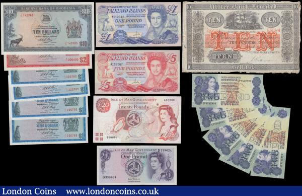 World collection (16), Rhodesia 10 Dollars dated 1973, 2