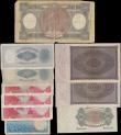 London Coins : A161 : Lot 496 : World lot (10), Rhodesia (4), 10 Shillings dated 1964 series H/6 852799, (Pick24a), 1 Pound (3) date...
