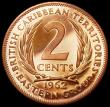 London Coins : A162 : Lot 1152 : East Caribbean States - British Caribbean Territories 2 Cents 1962 VIP Proof/Proof of record KM#3 nF...
