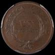 London Coins : A162 : Lot 1156 : El Salvador Centavo 1892 KM#108 UNC toned in a PCGS holder and graded MS64 BN