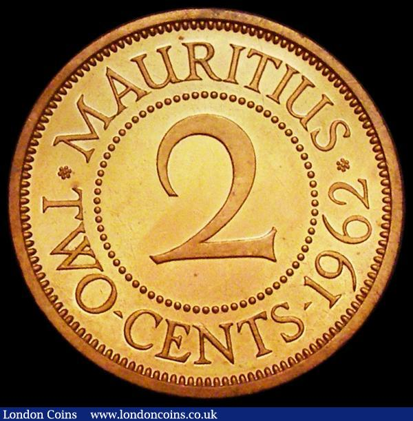 Mauritius 2 Cents 1962 VIP Proof/Proof of record KM#32 nFDC lightly toning, retaining much original mint brilliance : World Coins : Auction 162 : Lot 1237