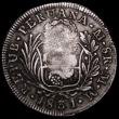 London Coins : A162 : Lot 1259 : Philippines 8 Reales Countermarked Coinage, Crowned F.7.0 on host coin Peru 8 Reales 1831 Lima Mint,...
