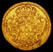 London Coins : A162 : Lot 1264 : Portugal Half Escudo 1726 no stop at end of obverse legend KM#218.4, Fine with a scratch in the obve...