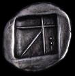London Coins : A162 : Lot 1563 : Greece, Aigina (404-340 BC) silver drachm, weighs 5.78 grams. Obv. tortoise with segmented shell, re...