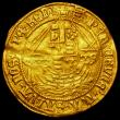 London Coins : A162 : Lot 1585 : Angel Henry VIII First Coinage S.2265 mintmark Portcullis Fine or better, creased