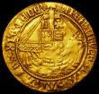London Coins : A162 : Lot 1586 : Angel Henry VIII First Coinage S.2265, mintmark Castle, Fine