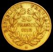 London Coins : A162 : Lot 1655 : France 20 Francs Gold 1852A KM#774 a one year type, Fine