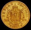 London Coins : A162 : Lot 1656 : France 20 Francs Gold 1862A KM#801.1 VF