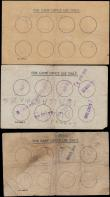 London Coins : A162 : Lot 170 : Prisoners of War notes WW2 (3), 6 Pence Camp No.554, VF, 6 Pence Camp No.119, missing corner good Fi...