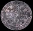 London Coins : A162 : Lot 1710 : Crown 1682 2 over 1, also edge appears QVRRTO due to QVARTO being struck over TERTIO ESC 65B, Bull 4...