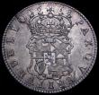 London Coins : A162 : Lot 1842 : Halfcrown 1658 Cromwell ESC 447, Bull 252 VF and attractively toned with a long flan crack at 7 o...
