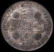 London Coins : A162 : Lot 1853 : Halfcrown 1741 Unaltered Date, Roses ESC 601, Bull 1681, NVF, nicely toned, Very Rare