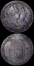 London Coins : A162 : Lot 1862 : Halfcrowns (2) 1690 SECVNDO, No frosting, no pearls, Second L in GVLIELMVS double struck, ESC 513, B...