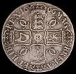 London Coins : A162 : Lot 2143 : Crown 1666 XVIII  ESC 32, Bull 366 VG the reverse slightly better, the reverse with an edge nick, Sc...