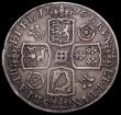 London Coins : A162 : Lot 2157 : Crown 1716 Roses and Plumes SECVNDO edge ESC 110, Bull 1540 Fine/Good Fine