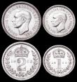 London Coins : A162 : Lot 2389 : Maundy Set 1952 ESC 2569, Bull 4322 GEF to UNC and lustrous with some hairlines