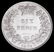 London Coins : A162 : Lot 2521 : Sixpence 1862 Large Date, ESC 1711, Bull 3207 GEF in an LCGS holder and graded LCGS 65, the finest k...