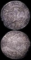 London Coins : A162 : Lot 2921 : France Quarter ECU 1644A Rose KM#161.1 VF the reverse with minor adjustment lines, German States - S...