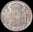 London Coins : A162 : Lot 2948 : Portugal 870 Reis 1834 Countermarked Coinage on Mexico, Zacatecas Mint 8 Reales, 26.16 grammes,  KM#...
