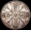 London Coins : A162 : Lot 2992 : Double Florin 1888 Second I in VICTORIA an Inverted 1 ESC 397A, Bull 2700, NEF with some contact mar...